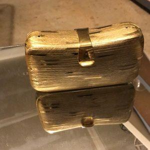 Gold Clutch Vintage Saks Fifth Avenue
